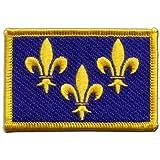 Écusson brodé Flag Patch France Île de France - 8 x 6 cm