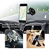 Magnetic Phone Holder, TEMPO 360 Degree Rotate Stick on Car Interior,Car Window Windshield Suck Mount Bracket Magnetic Holder Stand forApple iPhone, Nexus, Samsung Galaxy / Note etc