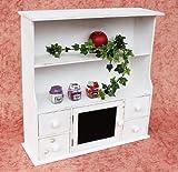 DanDiBo Küchenschrank 12238 Regal mit Notiztafel 55 cm Schrank Shabby Buffet Küchenregal