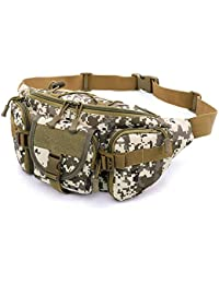 Tactical Waist Pack Bags For Men Military Hiking Waist Pack With Water Bottle Holder Running Camping Sport