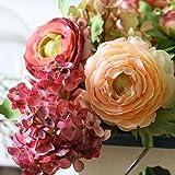 Kaxima Künstliche Blume Simulation Bouquet Lu Lian Hortensie Braut Hand Strauß Europäische Vintage gefälschte Blume Tisch Dekoration fl Ower