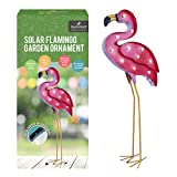 Garden Kraft 12660Solar Flamingo–Pink