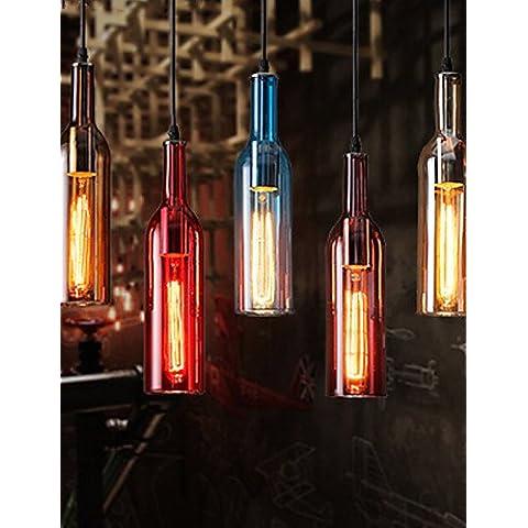 El Hotel Restaurante Bar Café personalidad creativa araña de cristal Retro Iluminación luces de techo colgante Colgante Lámpara luces , nuez