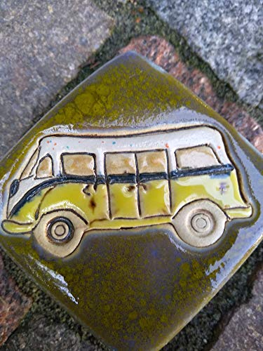 Pflasterstein aus Keramik Bus T1 Bulli Handarbeit