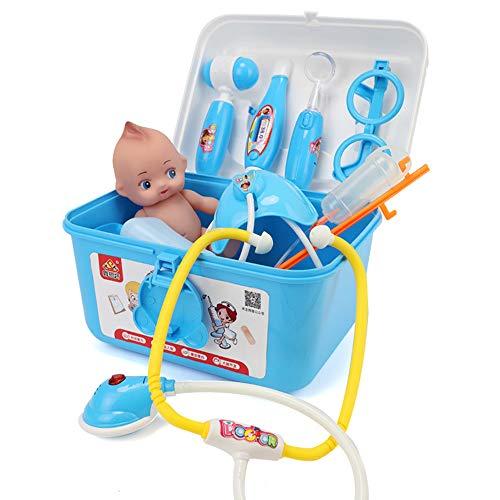 GHH Kinderarztkoffer Mit 39 TLG. Arzt Medizinisches Spielzeug Kinder,Blue