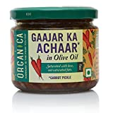 #9: Organica Homemade Carrot Pickle Gaajar Ka Achaar in Olive Oil 300gm
