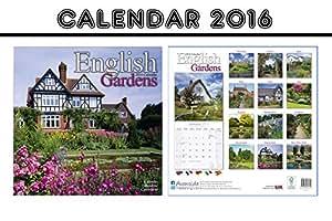 ENGLISH GARDENS CALENDRIER CALENDAR 2016