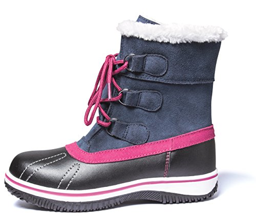 Canadian Boots Snowboots Schneestiefel Winterstiefel Stiefel für Kinder Jugendliche Gr.33-36 Denim Jeans Blue Warm Gefüttert (35)
