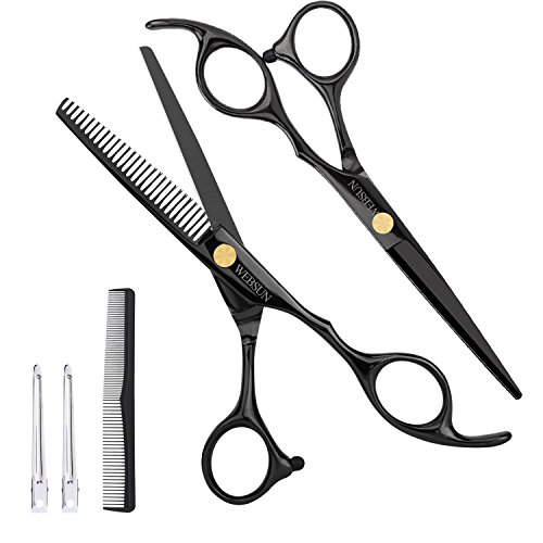 WEBSUN Professional Haarschere Friseurschere, HaareSchneiden schere Edelstahl rostfrei für Barber Salon