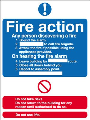 Fire Safety Sign - fire Action Notice