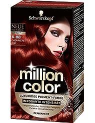Million Color Intensiv-Pigment-Farbe 6-888 Cashmere Rot, 3er Pack (3 x 1 Stück)