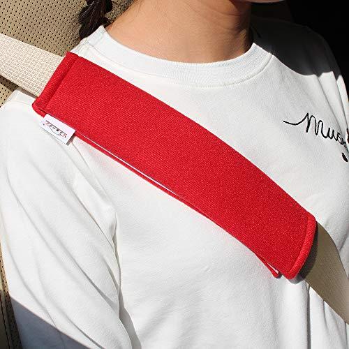 GAMPRO Auto-Gurt-Auflage-Abdeckung, 2-Pack-Soft Car Sicherheitsgurt Schulterpolster für Erwachsene und Kinder, geeignet für Auto-Sicherheitsgurt, Rucksack, Umhängetasche (ROT) - Skin So Soft Produkte
