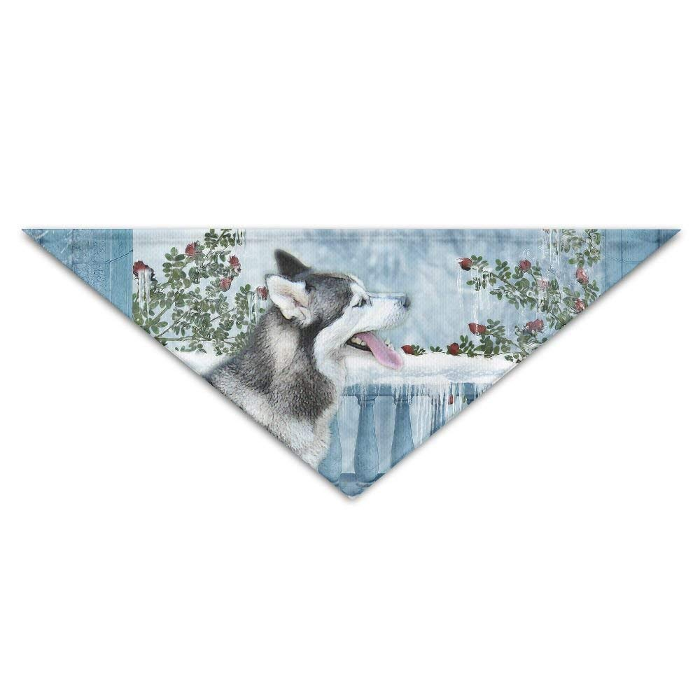 Siberian-Husky Turban Triangle Scarf Bib Scarf Accessories Pet Cat And Baby Puppy Saliva Dog Towel