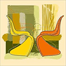 POSTERLOUNGE Impression sur Bois 100 x 100 cm: Panton Chair 01 DE Thomas Marutschke