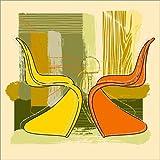 Posterlounge Alu Dibond 30 x 30 cm: Panton Chair 01 von Thomas Marutschke