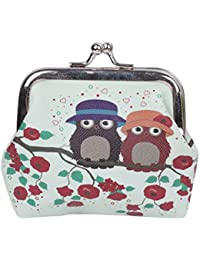 SimpleLife Hasp Purse Key Coin Wallet Bag Cute Wallet Keys Pouch Retro Owls Clutch Purse Bag