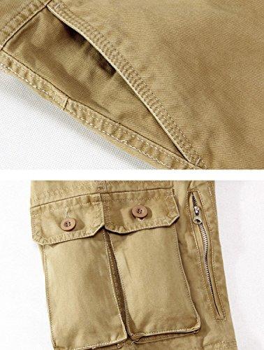 Panegy Adultes Combat Pantalon pour Homme/Garçon Treillis Militaire Cargo Armee Pantalon de Travail Loisir Sport Multi Poches Coton avec Ceinture hasard en dispose Camouflage Multicolore optique Kaki