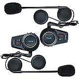 FDC 2pcs moto BT Intercom Bluetooth Multi moto Interphone šŠtanche casque casque 500M