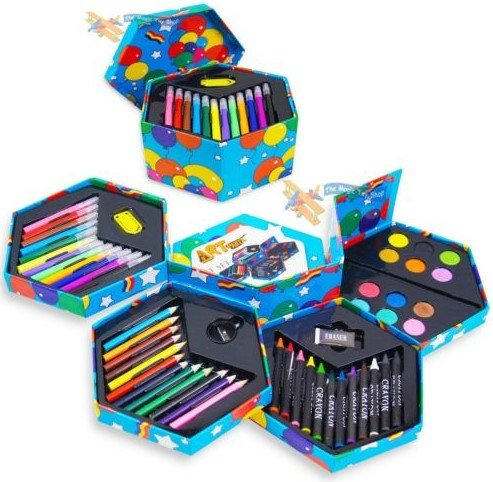 great-gift-for-kids-52-pcs-craft-art-artists-paints-pens-pencils-set-toys-play-game-toddler-boys-gir
