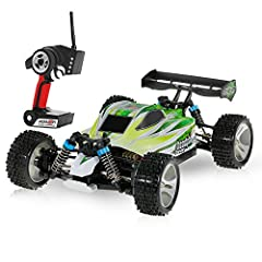 Idea Regalo - Goolsky WLtoys A959-B 2.4G 1/18 Scale 4WD 70KM/h High Speed Electric RTR off-Road Buggy RC Car