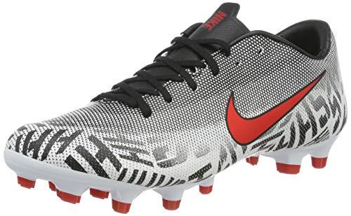 Nike Unisex-Erwachsene Neymar Vapor 12 Academy Mg Fußballschuhe, Mehrfarbig (White/Challenge Red/Black 170), 44.5 EU - Fußball Kunstrasen Schuhe