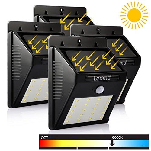 LEDMO-Luz-de-Solar-Luces-Solares-LED-de-Pared-Blanco-6000K-PIR-Sensor-de-movimiento-y-sensor-ligero-20-LED-Super-brillante-Energa-solar-impermeable-Luz-de-solar-LED-con-modos-inteligentes-para-la-pare