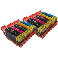 Canon CLI526, PGI525, WITH CHIP for Cannon Pixma MG5250- Multipack 2 Set of 5 Canon Compatible Printer Ink Cartridges CANON PIXMA iP4850, MG5150, MG5250, MG6150, MG8150, MX885, IX6550 Printer Inks - (Contains: 2x PGI-525BK, 2x CLI-526BK, 2x CLI-526C, 2x CLI-526Y, 2x CLI-526M) High Capacity Inks In Stock