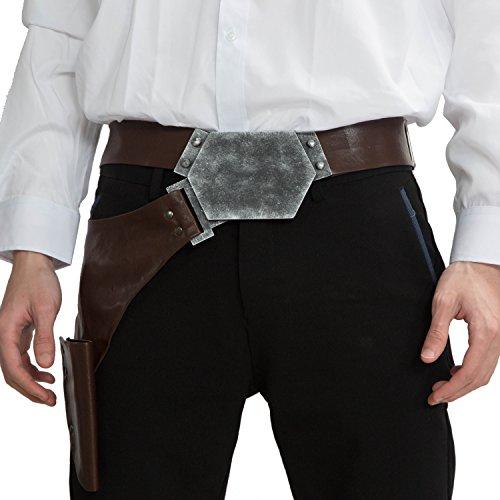 Cosplay Han Solo Kostüm Herren Gürtelholster PU Leder Ankleiden Erwachsene Kleidung Replik Prop