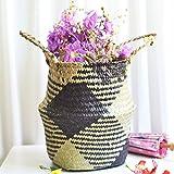 Berrose Seegras-Weidenkorb-Weidenkorb-Blumen-Topf-faltender Korb-schmutziger Korb-Seetang Weben Blumentopf-Seegras-Weidenkorb-Weidenkorb-Blumen-Topf-faltender Korb Dekorationen Blumen