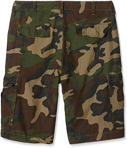 Urban Classics Herren Camouflage Cargo Shorts Mehrfarbig (wood camo 396)