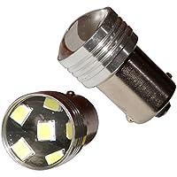 AERZETIX: 2 x Bombillas P21W R5W R10W 12V 6LED SMD blanco efecto xenon base de