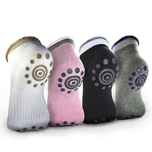 Moliker No Slip Skid Calcetines, Pilates, Yoga, Artes Marciales, Gimnasio, Moda Calcetines de baile (C001)