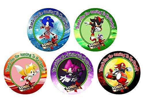 12Sonic Kräfte Geburtstag Party Favor Aufkleber (Taschen nicht enthalten) # 1 (Sonic Hedgehog Geburtstag)