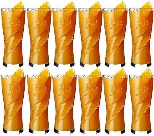 12-x-officielle-j2o-logo-en-relief-de-la-marque-highball-tumbler-verres-a-boire-3402-gram-340-ml