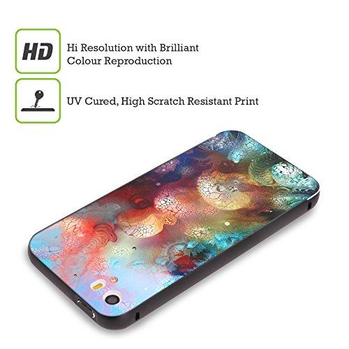 Ufficiale Runa Barriera Corallina 2 Vivido Nero Cover Contorno con Bumper in Alluminio per Apple iPhone 5 / 5s / SE Fiore Alieno