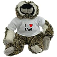 Bradypus de peluche con Amo Jam en la camiseta (nombre de pila/apellido/