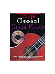 Fifty Easy Classical Guitar Pieces. Partitions, CD pour Tablature Guitare, Guitare Classique