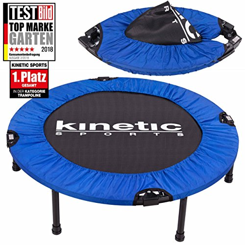 Fitness Trampolin Kinetic Sports Indoor Tramplolin Home Trampolin Minitrampolin, Durchmesser 91 cm faltbar