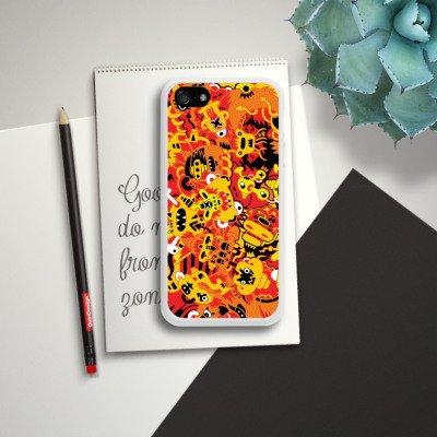 Apple iPhone 5s Housse Étui Protection Coque Imagination Bande dessinée Style bande dessinée Housse en silicone blanc