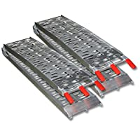 Pair of Motorcycle Loading Ramps 680kg 1500lbs Foldable Aluminium