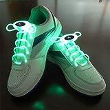 JIALUN- LED Warmes Weiß RGB 1 Paar 80 cm Glow Schnürsenkel LED Sport Schnürsenkel Glow Stick Blinkt Neon Leuchtend Schnürsenkel ( Color : Green )