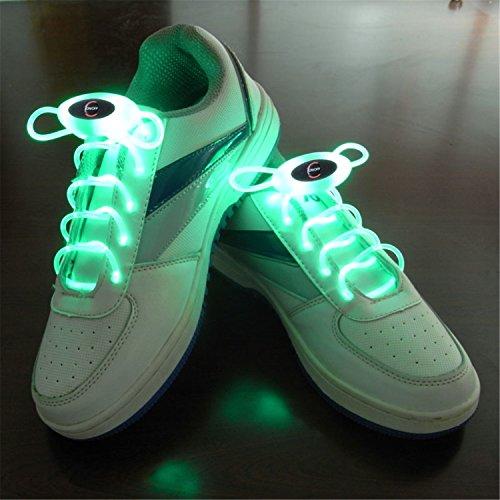 m Glow Schnürsenkel LED Sport Schuh Schnürsenkel Glow Stick Blink Neon Leuchtende Schnürsenkel Warm Weiß Weiß Rot Grün Gelb Pink Blau auf Lager ( Color : Green ) (Blue Glow-sticks)