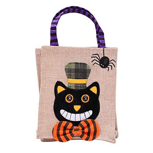 HYD Halloween Dekoration Geschenk Candy Bag Geeignet für Familie/Kinder / Schule/Party / Dekoration Handwerk 26 * 15 cm (Schwarze Katze) (Halloween Candy Bag Handwerk)