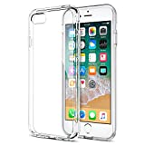 FOSO F65 Back Cover Case with TPU Corner Protection for iPhone 8 (Clear)