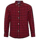 TOM TAILOR für Jungen Blusen, Shirts & Hemden Kariertes Hemd Bright Cherry red, 164