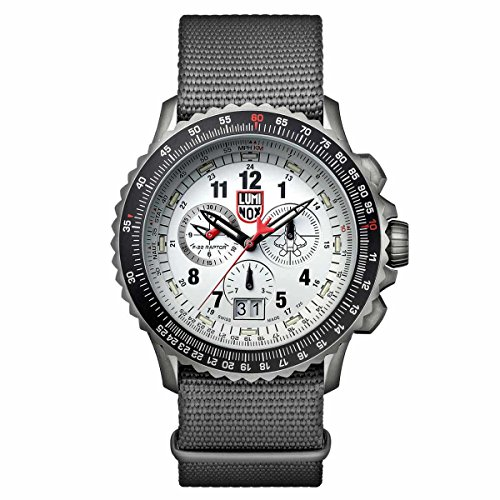 Luminox 9249 Men's F-22 Raptor 9240 Chronograph Gray Strap Watch