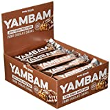 Body Attack YAMBAM Protein Bar, Chunky Chocolate Caramel, 15x 80g, 1er Pack (1x 1.2kg)