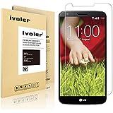 LG G2 Protector de Pantalla, iVoler® Protector de Pantalla de Vidrio Templado Cristal Protector para LG G2 -Dureza de Grado 9H, Espesor 0,20 mm, 2.5D Round Edge-[Ultra-trasparente] [Anti-golpe] [Ajuste Perfecto] [No hay Burbujas]- Garantía Incondicional de 18 Meses