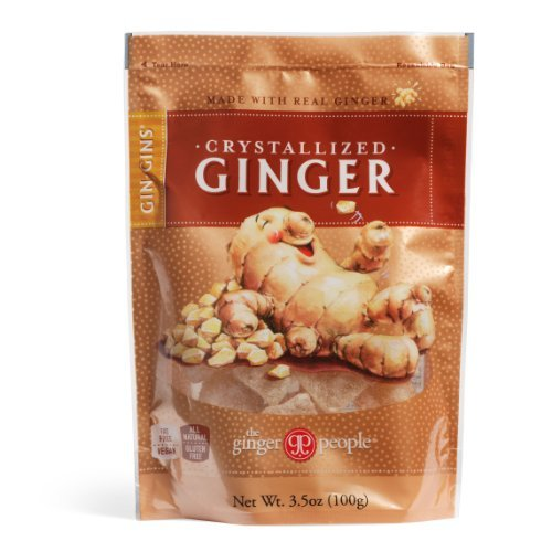 Gin Gins Crystallized Ginger Candy 3.5oz Bag 6-Pack by The Ginger People
