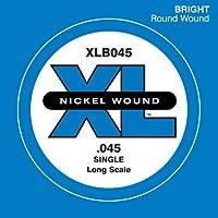 D'Addario Corde seule en nickel pour basse D'Addario XLB045, corde longue.045